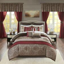 Luxurious Jacquard Medallion Comforter Bedskirt Curtain Valance 24 pcs Full set