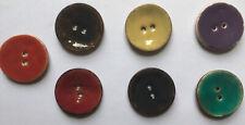 Los botones de cáscara de coco Esmaltada Cara Redondo 22mm 30mm 40mm 2 orificios artesanías costura