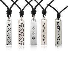 Tribal Maori Cross Eyes Classic Silver Pewter  Necklace Pendant Jewelry