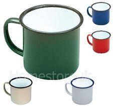 8cm SMALTO TAZZA PER CASA CAMPEGGIO & Travel tè tazza di caffè stile tradizionale colore