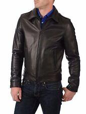 ★Giacca Giubbotto Uomo in di PELLE 100% Men Leather Jacket Veste Homme Cuir Y84