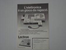 advertising Pubblicità 1974 LECTRON SERIE 2000