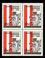 AUSTRIA 1965 (7 Ottobre) Cinquantenario dell'Unione delle Città Austriache  MNH
