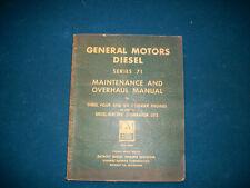 ORIGINAL General Motors Diesel Series 71 Maintenance and Overhaul Manual