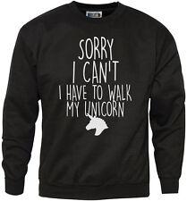 Lo siento no puedo Tengo que caminar a mi unicornio-Lindo Moda Juvenil y Hombre Sudadera