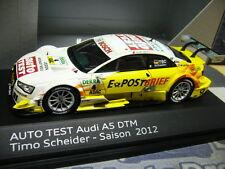AUDI A5 Coupe V8 DTM 2012 Scheider #4 Post Brief Auto Test Abt Resin NEU  1:43