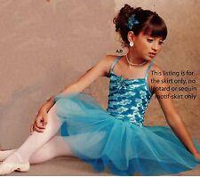 NWT Ballet Tutu 2 blues child sizes European length tulle organdy Dance girls