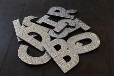 """LETTERE in Alluminio Muro Appeso A-Z 4""""/8"""" nome Glitter Matrimonio Regalo Di Compleanno"""