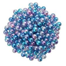 200pcs 6mm Perles en Vrac Perles Synthétique En ABS Plastique pour Bijoux