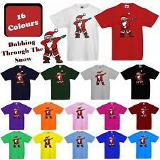 154359231 New Kids Boys Girls Christmas T-Shirt Funny Xmas Santa Dab Dabbing  Childrens Tee