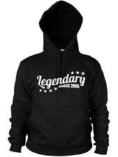 Legendary Since 2005 Hoodie Birthday Gift Kids Child Legend Mens Womens Present