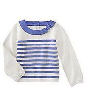 NWT girls 4 6 gymboree HOLLAND DAYS striped DELFT BLUE stripe SWEATER COTTON~PIC
