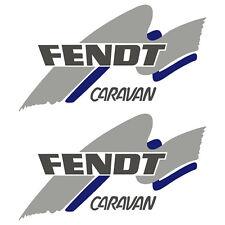 2 x FENDT 30cm x 17cm aufkleber sticker wohnmobil camper wohnwagen caravan