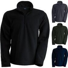 Mens Kariban Enzo 1/4 Zip Warm Outdoor Fleece Jacket Top