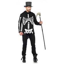 Skeleton Costume Adult Bone Daddy Halloween Fancy Dress