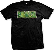 Brazil Text Bold Republica Federativa Do Brasil Soccer Futbol Mens T-shirt