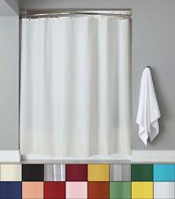 Vinyl Shower Curtain Liner & Chrome Roller Hook Set - Anti Mildew