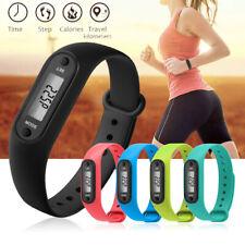 Run Step Walk Watch Bracelet Pedometer Calorie Counter LCD Distance Wrist Band