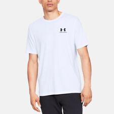Under Armour Hombre Sporttyle Pecho Izquierdo Camiseta Tee Top Blanco Deporte