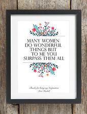 Messaggio personalizzato Buon Compleanno frase stampa su misura MAMMA NAN nonna Regalo