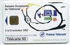 TELECARTE 50 SEMAINE EUROPEENNE DU TELETRAVAIL
