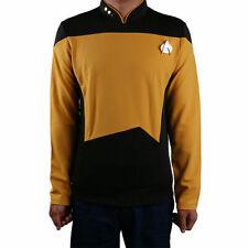 Star Trek Starfleet Command Shirt Uniform Cosplay Star Trek TNG Yellow Uniform