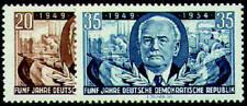 DDR Nr. 443-444 postfrisch ** / gestempelt 5 Jahre DDR
