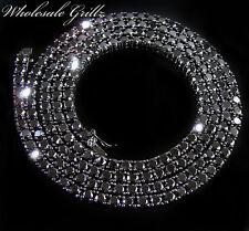 Nuovo Uomo Simulare Nero Diamante su 14k Oro Catenina Placcata Hip Hop Collana