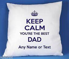 Keep Calm Votre BEST DAD satin luxe housse de coussin peut être personnalisée