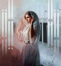 Princess Leia Death Star Plans Help Me Obi-Wan Star Wars A New Hope Fine Art