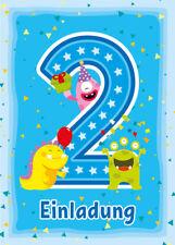 Einladungskarten Einladungen 2. Kindergeburtstag zweite Geburtstag MONSTER