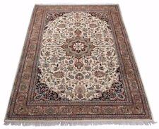 Orientteppich Indo Tabriz, handgeknüpft, 100% Schurwolle, mit Medaillon in beige
