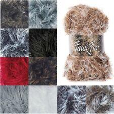 James C Brett Faux Fur Chunky Yarn 100g Ball Knitting Yarn Knit Craft
