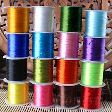 20M Fuerte Elástico Elásticos Abalorios cables de Rosca 0.8mm para joyería haciendo