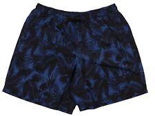 Badehose mit Palm-Print, blau