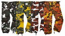 Kids Youth BDU Ranger 6-Pocket Combat Trousers Children Army Uniform Camo Cargo