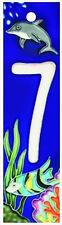 Art on Tile Beach Sea Ocean Fish Aquarium House Ceramic Address number 0 to 9