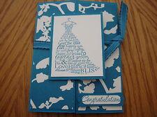 "Stampin Up wedding card Love & Laughter ""Timeless Portrait"" Island Indigo"