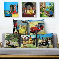 The Adventures of Tintin Print Throw Textile Cushion Cover Sofa Home Decor