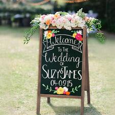 """40""""Rustic Magnetic A-Frame Chalkboard Sturdy Sidewalk Sign Board Outdoor Wedding"""