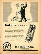 1948 The Radiart Corp. Vibrator Radio Tube Print Ad Cop on the Beat