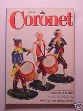 CORONET July 1956 WILLIAM HOLDEN WOMEN OF FASHION Favorite DOG breeds DR SPOCK +
