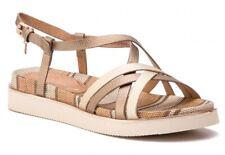 WRANGLER TROPICAL KAREN GOLD scarpe sandali donna pelle zeppa plateau tacco