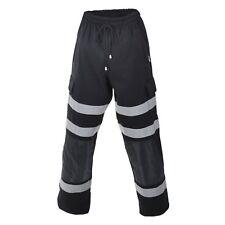 Hi Vis Combat Style Workwear Black Joggers