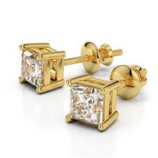 Diamantohrstecker 2.00 Karat aus 585/14K Gelb- oder Weißgold - Zertifiziert