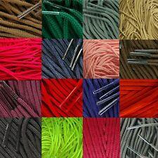 Tz laces 2 pour 3mm Rond Coloré Lacets Chaussures 39 Couleurs 6 Longueurs