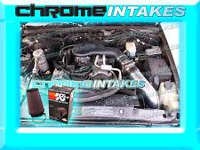 96-05 CHEVY S10/ZR2/ZR5/BLAZER/SONOMA/JIMMY 4.3 COLD AIR INTAKE HS BLACK RED+K&N