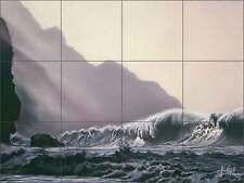 Ceramic Tile Mural Kitchen Backsplash McElroy Horse Equine Seascape Art KMA004