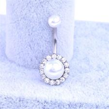 Crystal Rhinestone Tassel Dangle Button Navel Belly Ring Body Piercing Jewelry