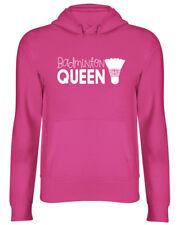 Badminton Queen Womens Hoodie Birthday Gift Shuttlecock Racket Ladies Hooded Top